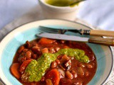 Bean and vegetable casserole with pistou