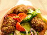 Broad bean and coriander falafel