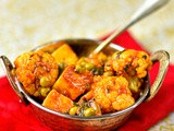 Cauliflower, pea and paneer curry