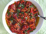 Roast red pepper with garlic and basil