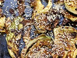 Roast savoy cabbage with miso and sesame