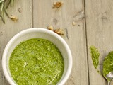 Spinach, walnut and rosemary pesto