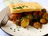 Squash, mushroom and chestnut pie