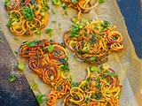 Sweet potato and spring onion latkes