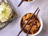 Szechuan-style tofu with spring onion