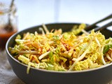 Winter slaw with ginger and sesame dressing