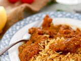 Lamb Karahi and Saffron Rice