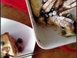 Blueberry Bread and Butter Pudding....#improv