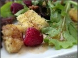 Fried Brie and Raspberry Salad with Honey-Balsamic Vinaigrette.....#thesaladbar