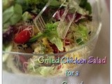 Grilled Chicken Salad for a Crowd.....#thesaladbar