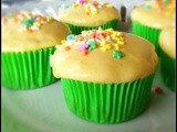 Sweet Pea Cupcakes with Carrot Cream Cheese Frosting