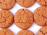 Cardamom Molasses Cookies  {Gluten Free and Vegan}