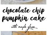 Chocolate Chip Pumpkin Cake with Maple Glaze (Gluten-Free and Vegan)