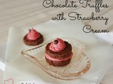 Chocolate Truffles with Strawberry Cream