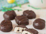 Gluten Free Chocolate Cookie Dough Eggs (Vegan)