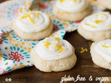 Gluten Free Frosted Lemon Cookies (Vegan)