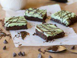 Gluten Free Grasshopper Brownies (Vegan)