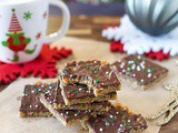 Gluten Free Holiday Toffee Squares (Dairy Free)