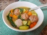 Simple Italian Wedding Soup (Minestra Maritata)