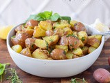 Warm Garlic Herb Red Potato Salad (Gluten Free & Vegan)