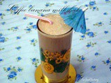 Coffee - banana milkshake