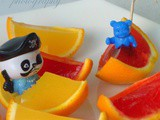 Jelly boats| Party special | Kidsfriendly| Summer special |home made orange jelly set in orange peel cups