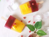 Mango and pomogrenate popsicle| Popsicle with an Indian twist