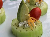 Avocado and Tomato Cucumber Cups /#TasteCreations