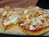 Buffalo Chicken Naan Bread Pizza