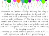 Celebrate It! Blog LinkParty