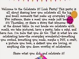 Celebrate It! Blog Party #13
