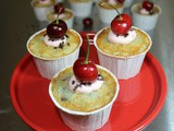 Cherry Vanilla Cupcakes / #CupcakeLoversDay
