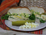 Chicken and Egg Salad Sandwich / #SundaySupper