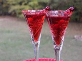 Cranberry Champagne Cocktail / #SundaySupper