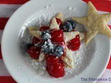 Easy Cherry Pie Stars