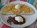 Goat Cheese and Red Onion Quesadilla / #SundaySupper