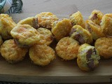 Kielbasa and Cheddar Mini Omelette Cups / #FarmersMarketWeek