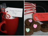 Last Minute Valentine Gifts~Homemade Hot Chocolate Mix and Chocolate Dipped Thin Oreos