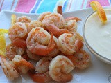 Lemon Lime Shrimp Cocktail w/ a Citrus Yogurt Dipping Sauce / #SundaySupper