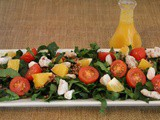 Orange & Walnut Baby Spinach Salad w/Quinoa & a Citrus Vinaigrette / #SundaySupper