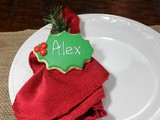 Place Setting Sugar Cookies / #ChristmasCookiesWeek