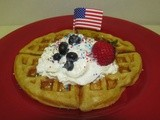 Red, White and Blue Malted Waffles