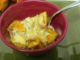 Sensational  Pumpkin Bread Pudding w/ Gingered Creme Anglaise