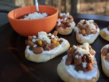 Slow Cooker Pinto Bean & Chorizo Naan Bread Appetizers