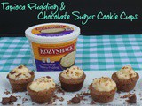 Tapioca Pudding and Chocolate Sugar Cookie Cups/#SummerofPudding