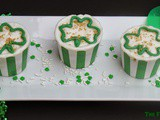 Triple Chocolate Shamrock Cupcakes
