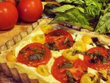 Biting the Big One | Tomato & Saffron Ricotta Tart