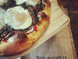 Breakfast with Morris Day | Marinated Arugula, Baby Bella & Sun Dried Tomato Breakfast Pizza