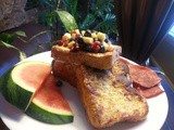 Fix It. | Vanilla French Toast with Blueberry Pomegranate Salsa