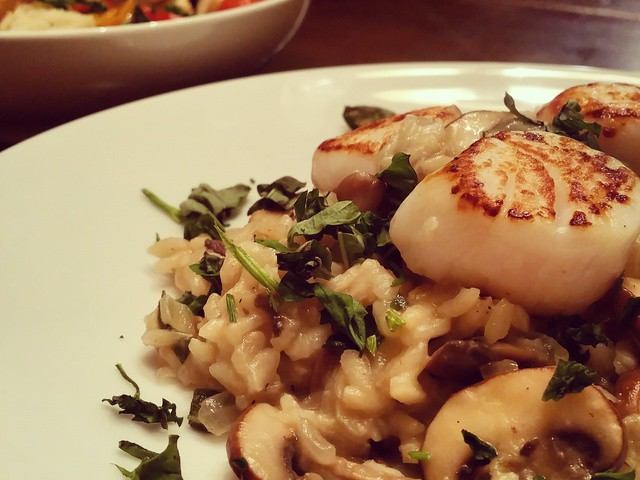 hell-s-kitchen-mushroom-truffle-oil-risotto-with-pan-seared-scallops ...